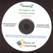 Simple 6™ for Secondary Writers CD
