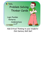Problem Solving Thinker Cards K-2nd