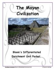 Go Green Unit - Mayan Civilization