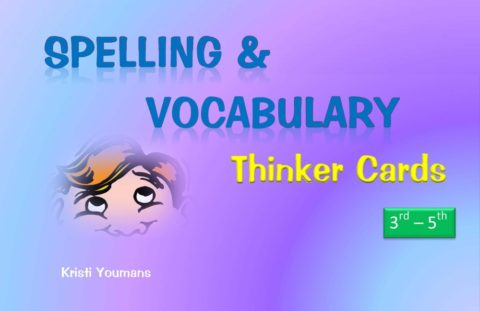 Spelling & Vocabulary Thinker Cards 3rd-5th
