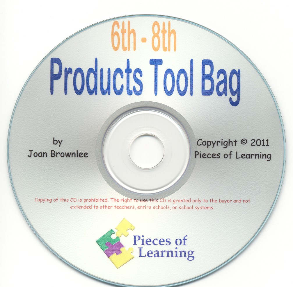 Products Tool Bag - 6th-8th Grades