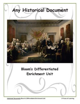 Go Green Unit - Any Historical Document