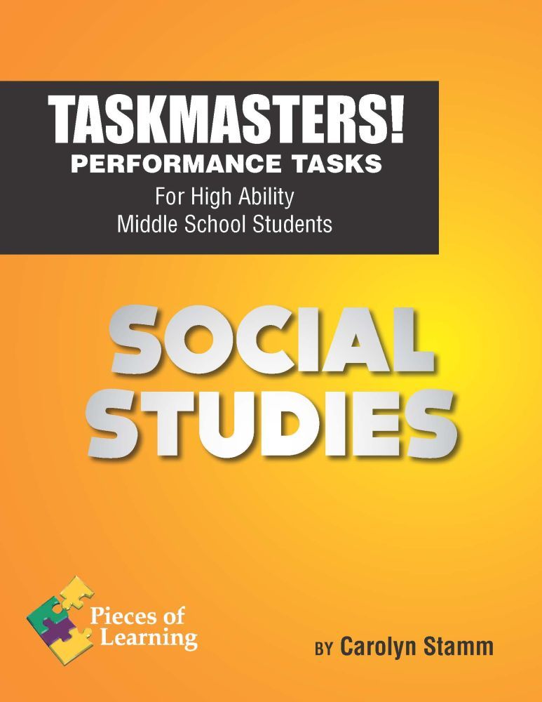 Task Masters! Performance Tasks – Social Studies