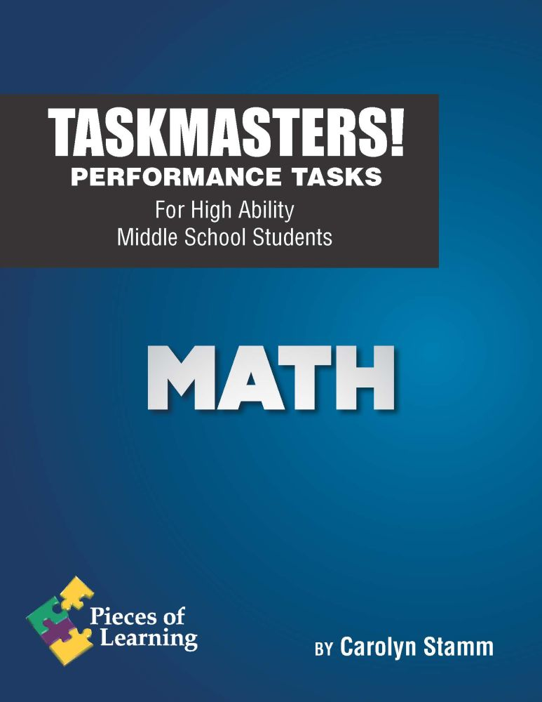 Task Masters! Performance Tasks - Math