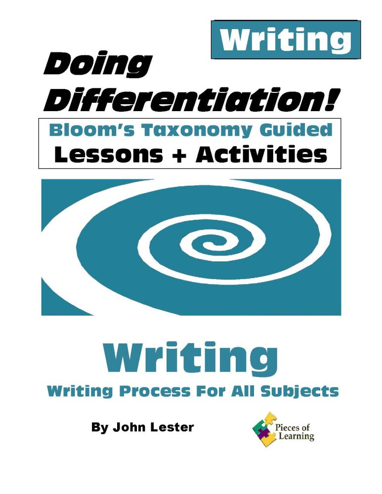 Doing Differentiation! Using Bloom's Taxonomy – Writing