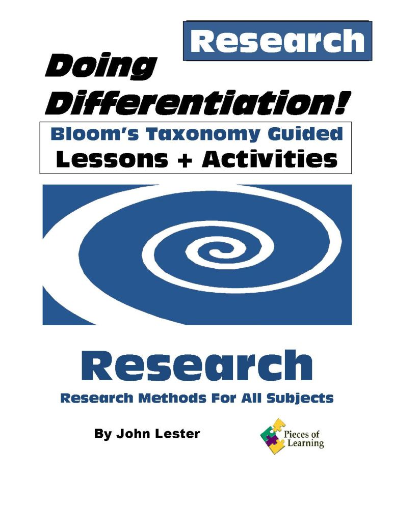 Doing Differentiation! Using Bloom's Taxonomy – Research