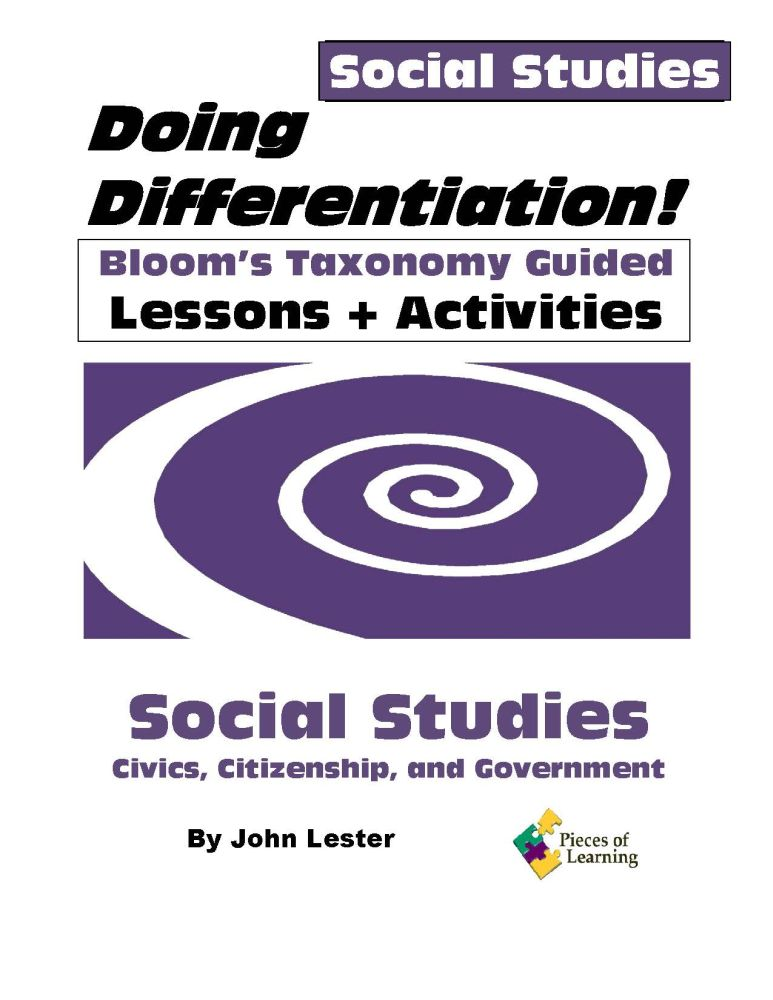 Doing Differentiation! Using Bloom's Taxonomy – 6 Subject Set