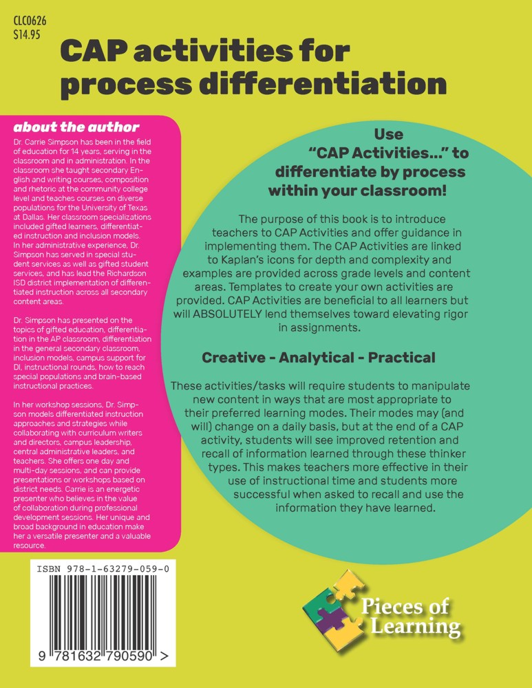 Design Di Cap Activities For Process Differentiation Pieces Of