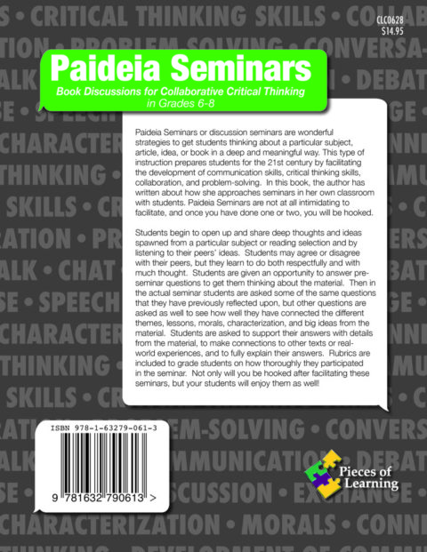 Paideia Seminars: Book Discussions for Critical Thinking 6-8