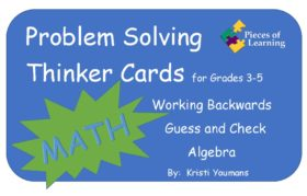Problem Solving Thinker Cards 3rd - 5th - Math