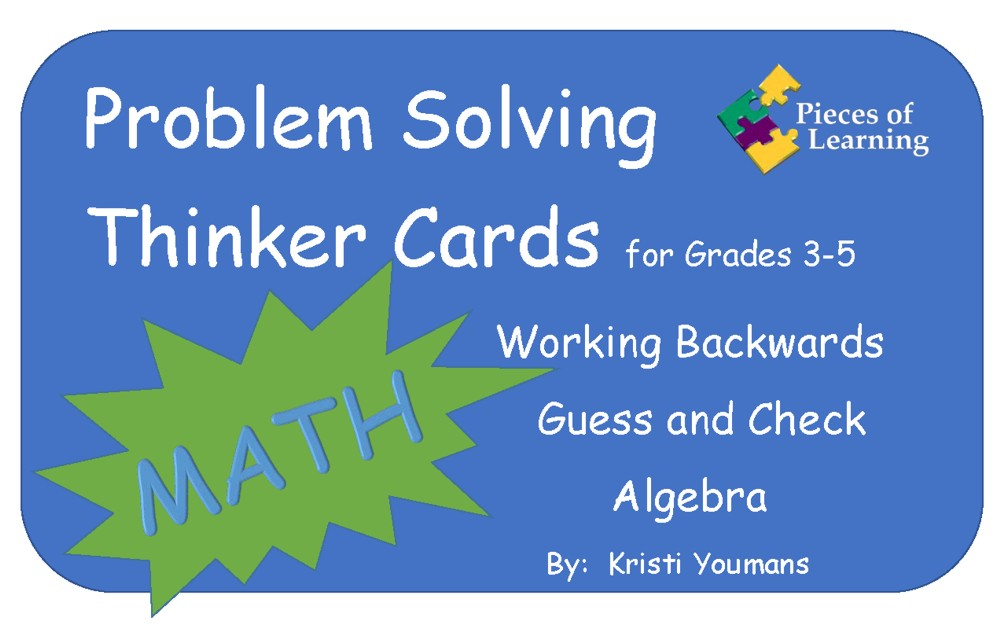 Problem Solving Thinker Cards 3rd – 5th – Math
